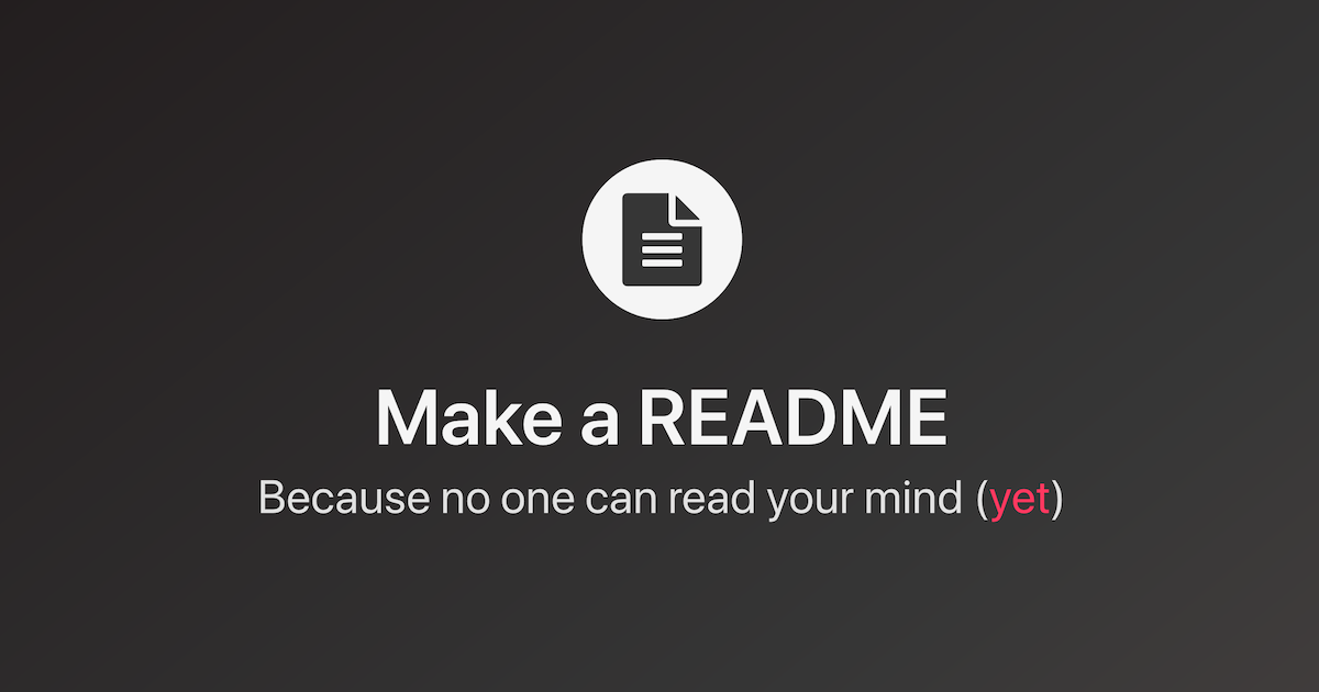 Make a README
